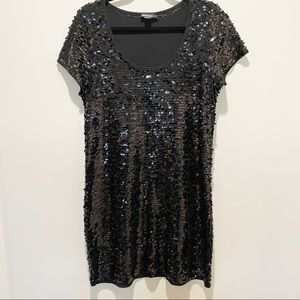DKNY Black Sequined Dress